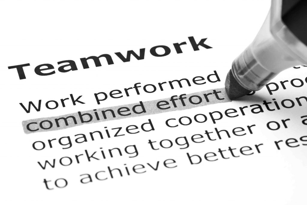 "A dictionary definition of the term ""teamwork"" that describes the successful relationship between a client and its marketing agency"