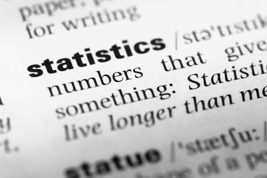 "A dictionary definition of the term ""statistics"" that is highly connected to ""big data"""