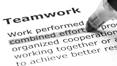 "A definition of the term ""Teamwork"" that describes the successful relationship between a client and its marketing agency"